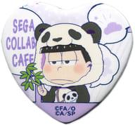 一松(着ぐるみ) 「セガコラボカフェ おそ松さん×しろくまカフェ ハート型缶バッジB」