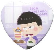 一松(シロクマくん衣装) 「セガコラボカフェ おそ松さん×しろくまカフェ ハート型缶バッジB」