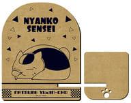 "03.Nyanko-sensei (C) Wooden smartphone stand ""Natsume Yujincho"""
