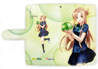 "Asuna (Sword Art Online) NewDays Uniform Notebook Type Multi Smartphone Case ""NewDays x Dengeki Bunko 25th Anniversary Vegetable Day Campaign"""