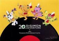 アグモン&ピヨモン&テイルモン&パルモン キャラクターカード 「デジモンアドベンチャー 20th Anniversary×TOWER RECORDS CAFE ~集まれ!選ばれし子ども達~」 第1弾カフェ来店特典