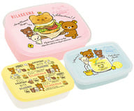"Collection (hamburger pattern) Lunch market nested lunch box (3 pieces) ""Rilakkuma"""