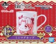 "Lancer / Ereshikkigaru / Archer / Ishtar Mini Mug Cup Mojirizu Poya ""Ichiban Kuji Fate / Grand Order-Santa Claus running in the night sky, fluffy appearance!-"" Prize E"