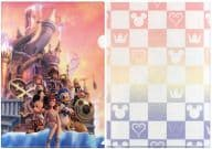 """Collection (background Hollow Bastion) A4 clear file """"Kingdom Hearts (video game) 2"""""""