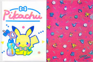 "Pikachu & Evei A4 clear file 2 piece set psycho soda ""Pokémon"" Pokemon center only"
