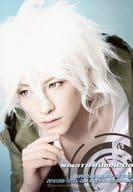 """Suzuki Hiroki (Kotoe Aoi) / bust up, right hand jaw, background light blue, character shot / stage """"Super Dangan Ronpa 2 THE STAGE"""" Bromide"""