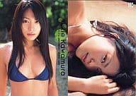 KAWAMURA YUKIE / swimming suit blue / YS 21stANIVERSARY TRADING CARD