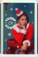 [シート欠け]TWICE/チェヨン/ホログラムカード/CD「TWICEcoaster : LANE 1」(Christmas Edition)特典トレカ